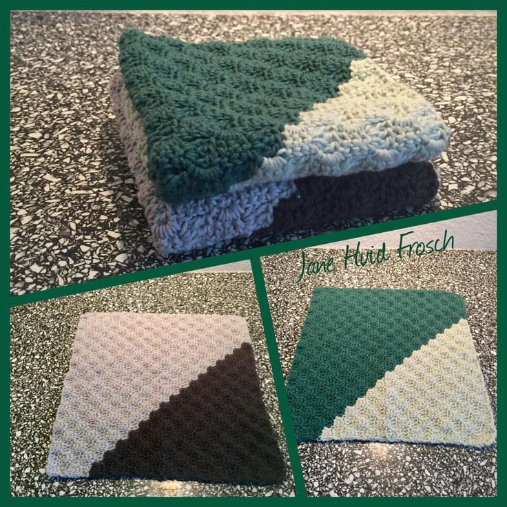 """2 Synes godt om, 1 kommentarer – Jane Hvid Frosch (@jane_frosch) på Instagram: """"Så var der lige 2 hæklede karklude til skuffen 💚 #crochetdishcloth #hækletkarklud #c2ccrochet…"""""""