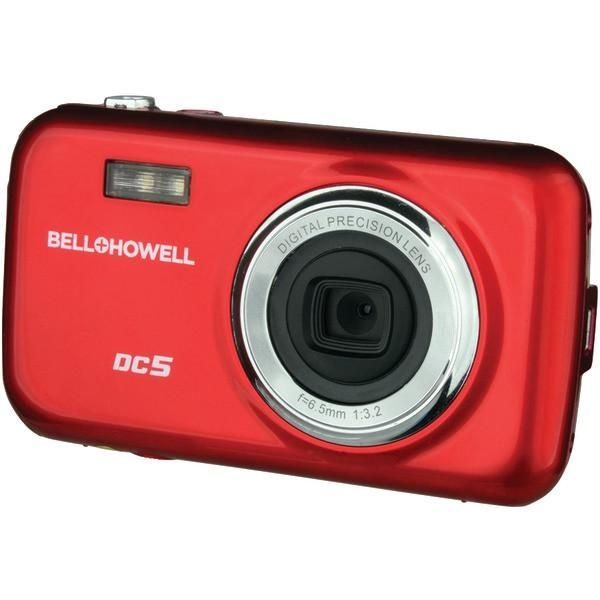 BELL+HOWELL DC5-R 5.0-Megapixel Fun Flix(R) Kids Digital Camera (Red)