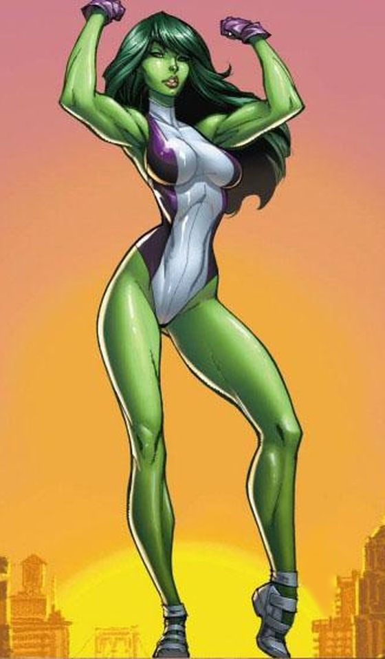 She-Hulk (Jennifer Walters) is a fictional character, a superheroine in the Marvel Comics universe. Created by Stan Lee and John Buscema, she first appeared in Savage She-Hulk #1 in 1980. A cousin to Dr. Bruce Banner, Walters once received an emergency blood transfusion from him when she was wounded, which led to her acquiring a milder version of his Hulk condition. As such, Walters becomes a large powerful green-hued version of herself while still largely retaining her personality. She has…