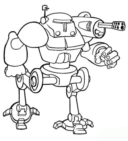 7 Beste Ausmalbilder Roboter Kampfroboter Bastelbogen
