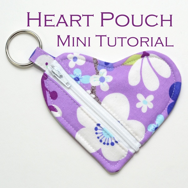 Heart Pouch Mini Tutorial by yorkiemischief, via Flickr