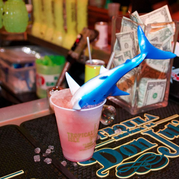 The New Orleans cocktail bucket list- Tropical Isle- French Quarter- The Shark Attack