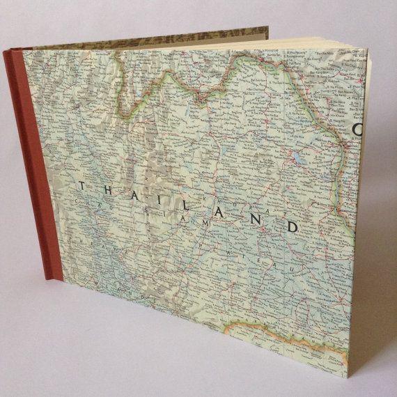 Map Photo Album, Scrapbook, Honeymoon album, custom album