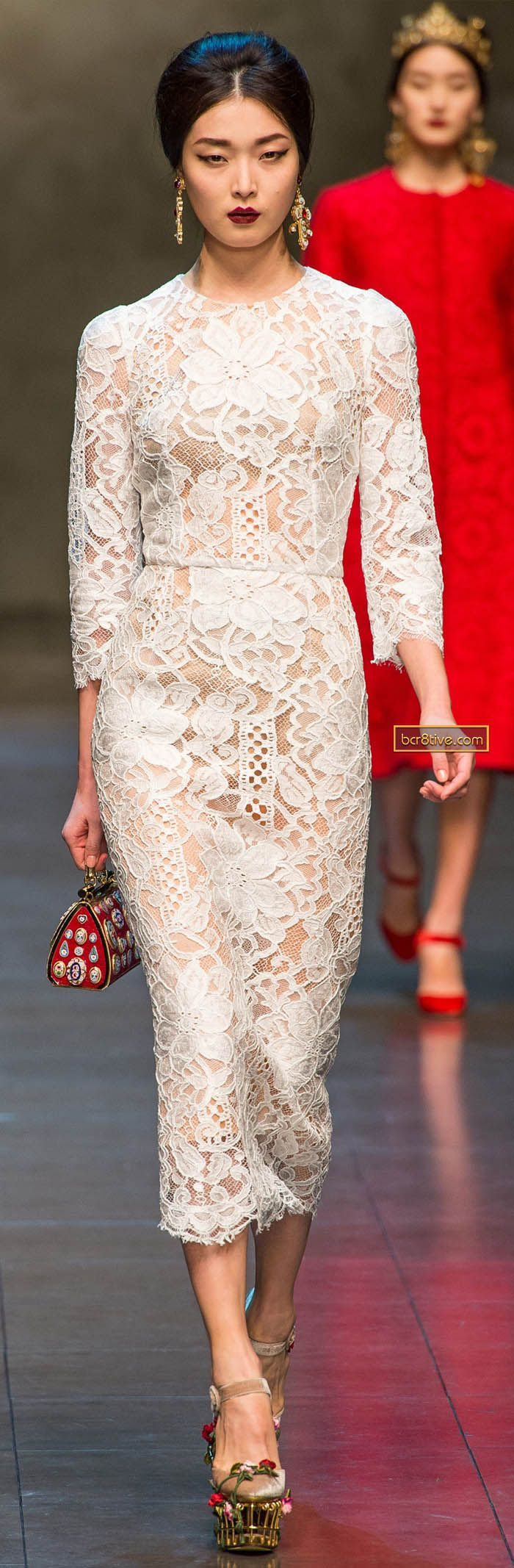 intricate lace :: dolce & gabbana fall/winter 2013-14 [ via bcr8tive.com ]