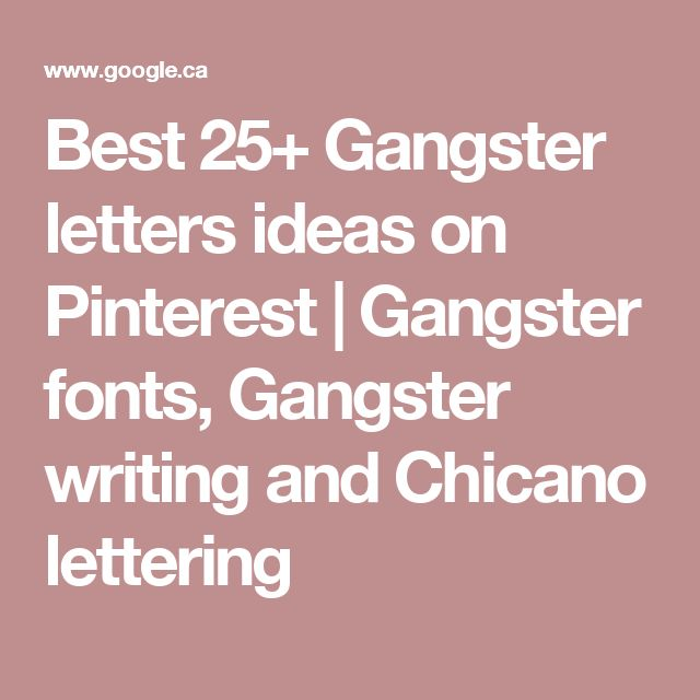 Best 25+ Gangster letters ideas on Pinterest | Gangster fonts, Gangster writing and Chicano lettering