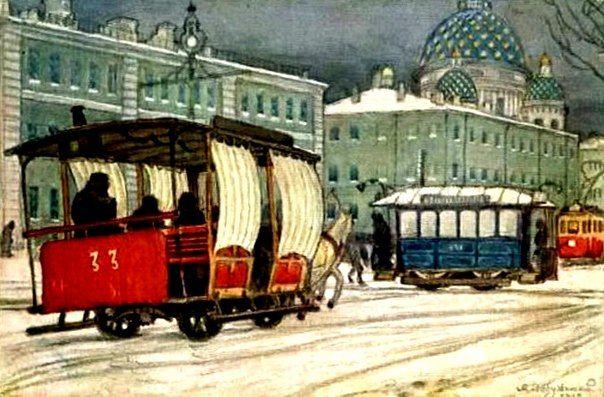 Добужинский М.В. Измайловский полк (Петербург)