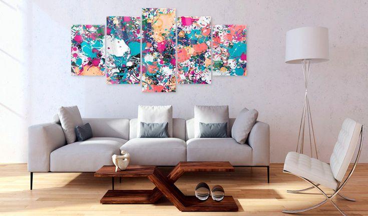 Skleněný obraz - Lake of Colours #canvas #prints #obraz #decor #inspirace #home #barvy #pictureframes #expression #modern #abstrakce