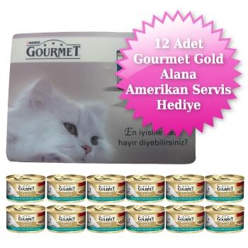 Gourmet Gold Parça Etli ve Soslu Somonlu & Tavuklu Kedi Konservesi 85 gr Hediyeli