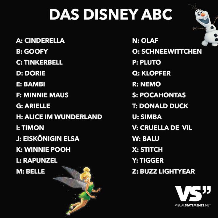Visual Statements® DAS DISNEY ABC  Sprüche/ Zitate/ Quotes/ Spaß/ witzig/ lustig/ Fun