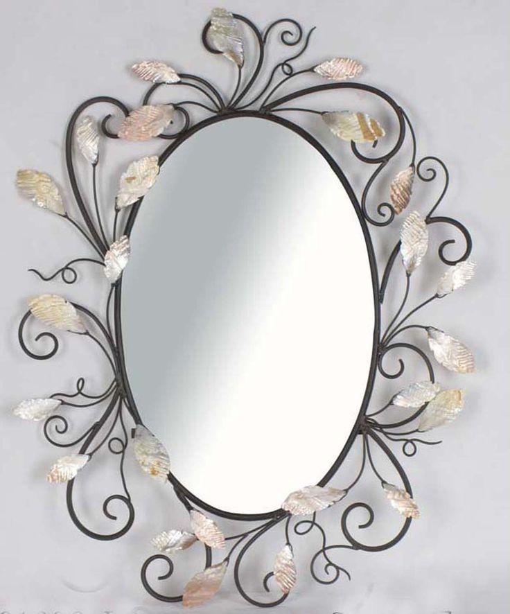 Wall Mirrors Victorian Design Swiveled Metal Oval Wall