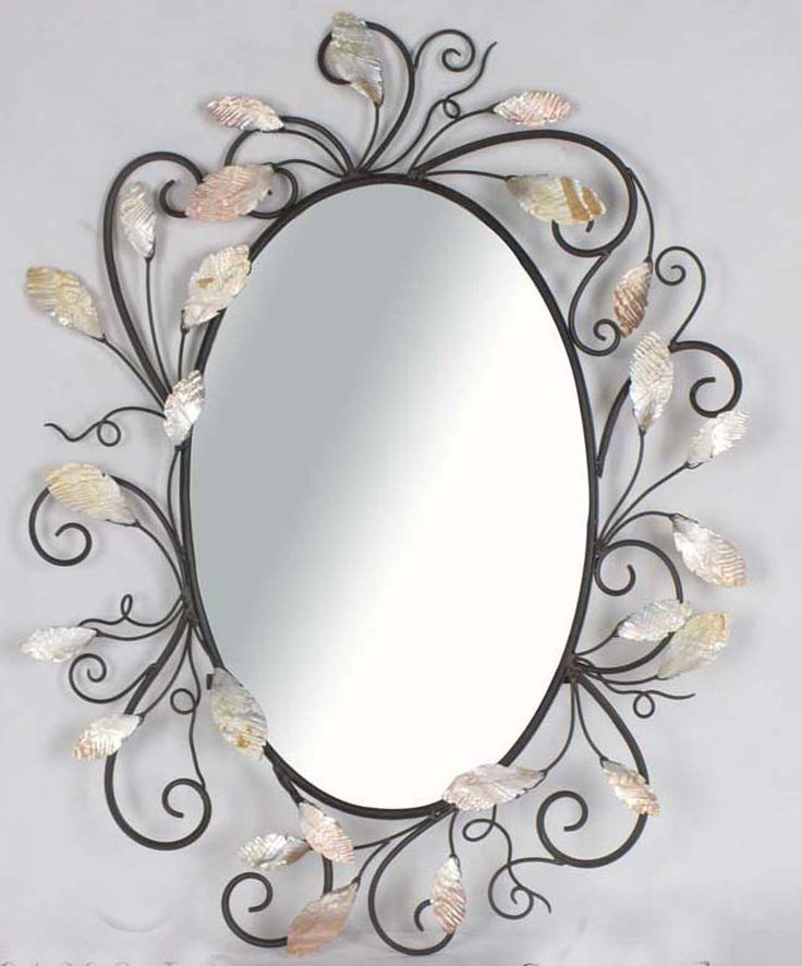 Wall Mirrors | Victorian design swiveled metal oval wall mirror