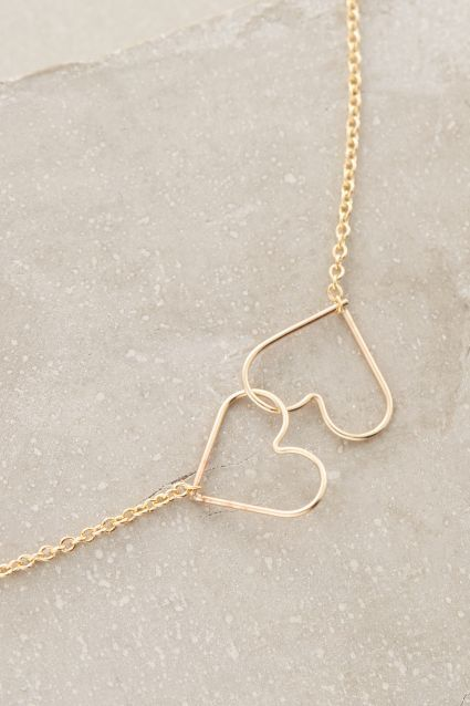 Kissing Hearts Necklace - anthropologie.com