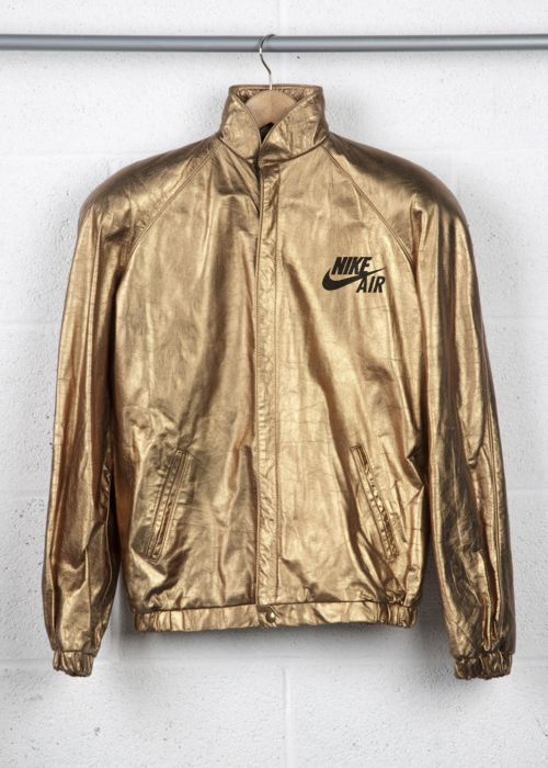 sports luxe ☆ gold Nike jacket
