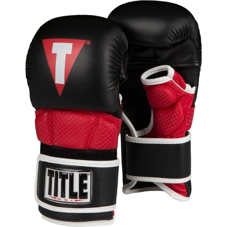 Title Boxing MMA Full Contact Sparring Gloves, Black