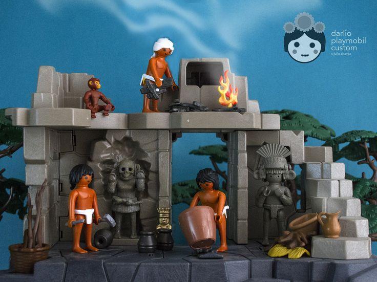 Playmobil custom Mexico Aztec Handraft men´s house