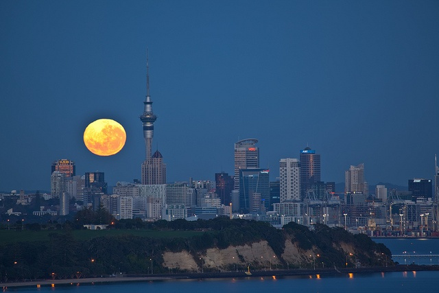 Had to include this awesome image of Auckland City as seen from St. Heliers Bay - location of Michel's House.