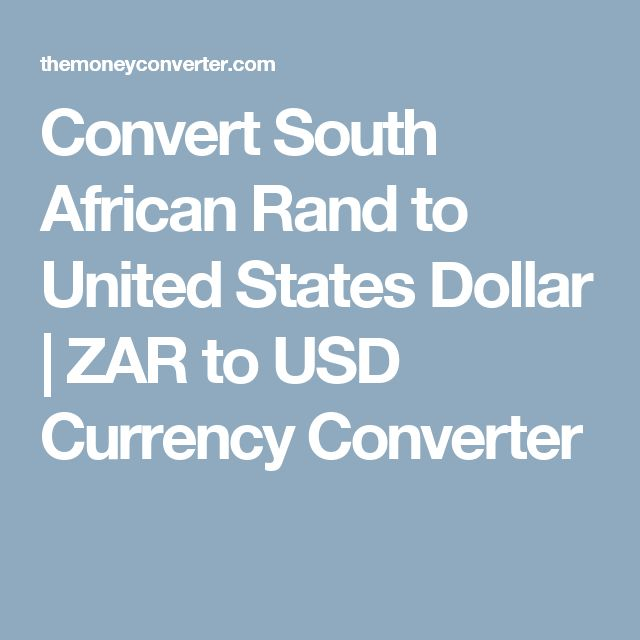 Convert South African Rand To United States Dollar Zar Usd Currency Converter Euro