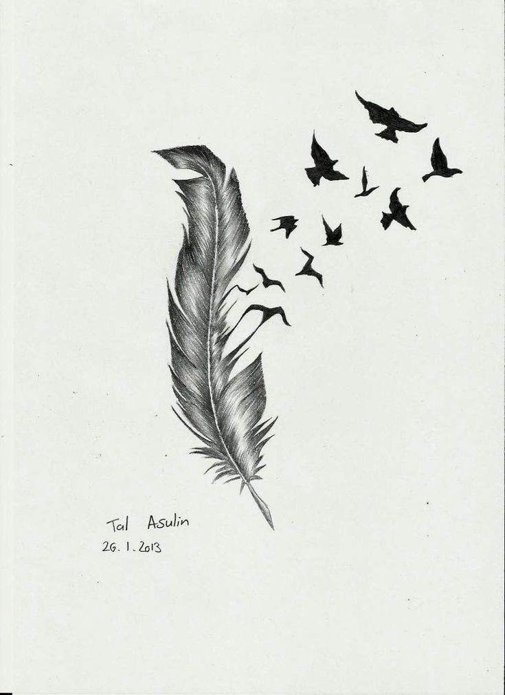 This is a sketch of a tattoo that has a huge meaning ... |Flying Birds Drawing Tattoo
