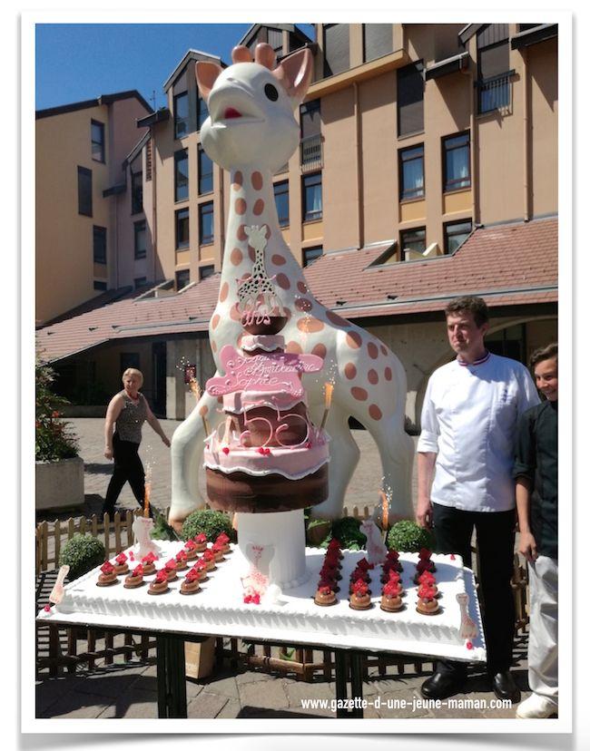 Gâteau anniversaire 55ans sophie la girafe #SophieLaGirafe #vulli
