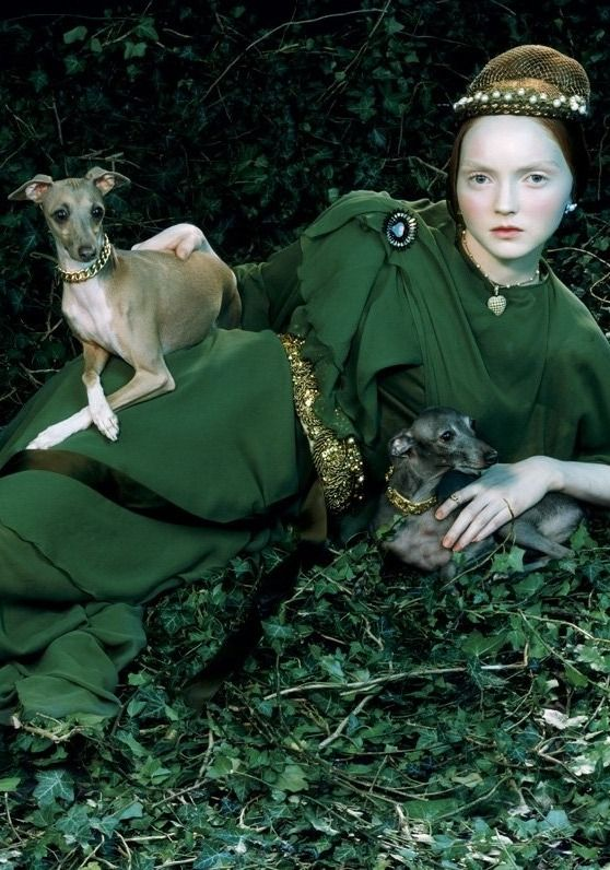 "Fashion Photography Editorials ~ Italian Vogue, by Mile Aldridge of Lily Cole. The editorial was called ""Like a Portrait""."
