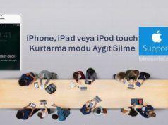 Apple; Kurtarma modu ile aygıt silme