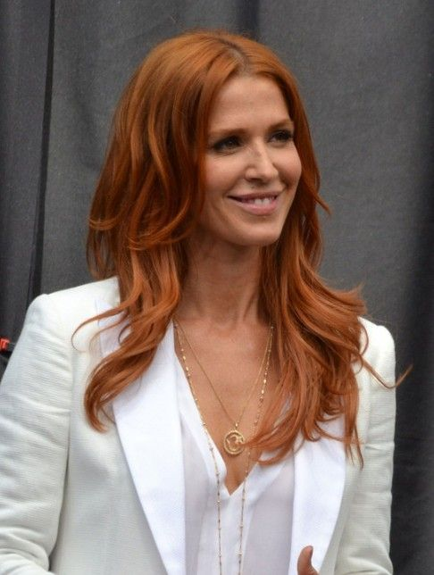 Poppy Montgomery Long Yellow Hairstyle with Layers  , love the color