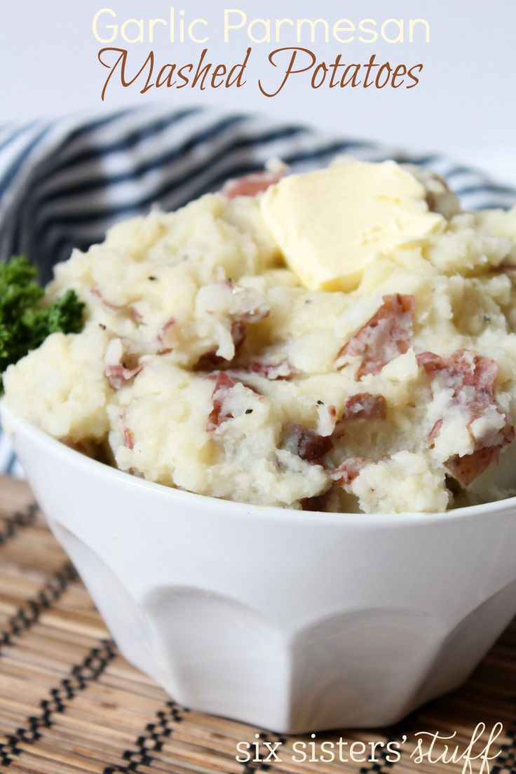 Garlic Parmesan Mashed Potatoes