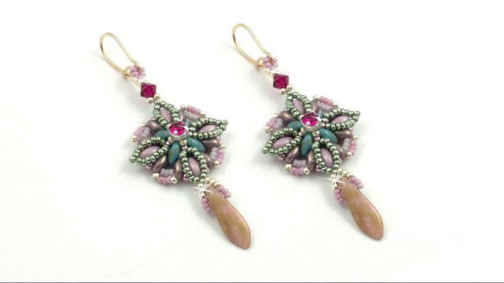 "Beading4perfectionists: ""Oceanic bloom"" earrings beading tutorial"