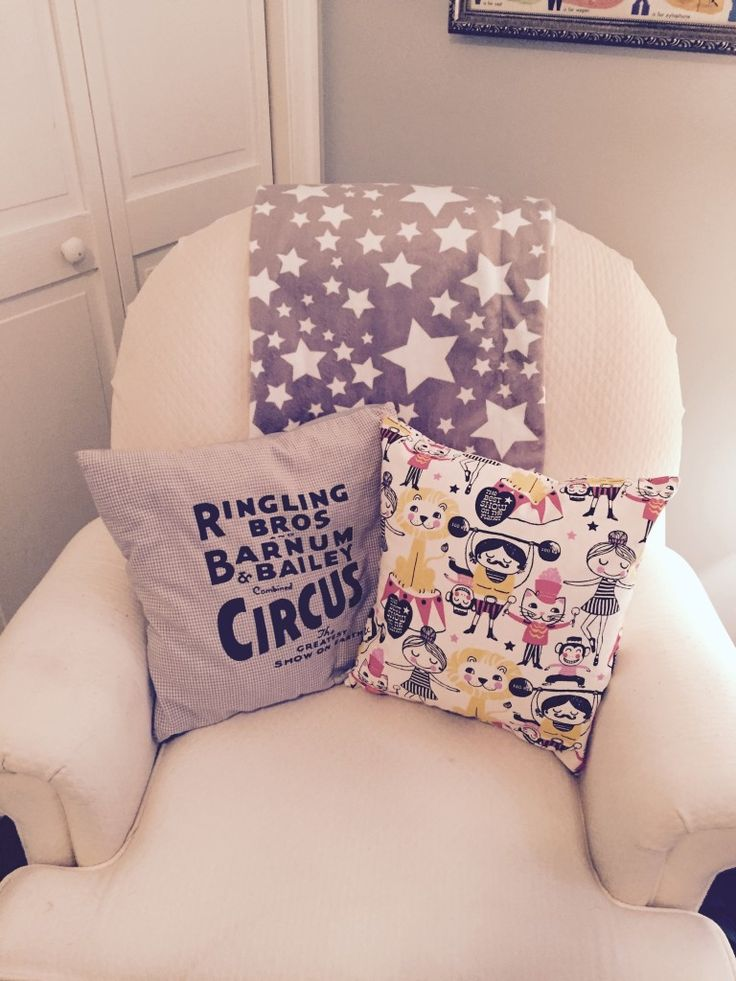 Project Nursery - Circus Themed Pillows