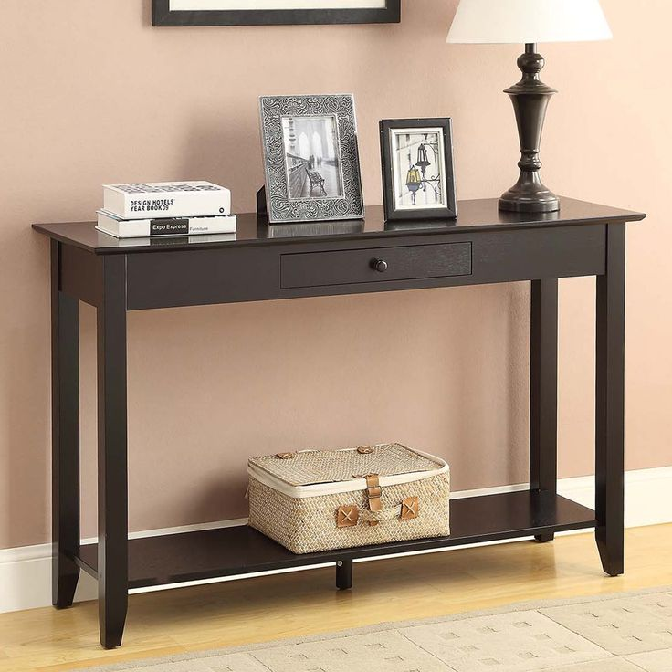 convenience concepts american heritage console table long and narrow the convenience concepts american heritage