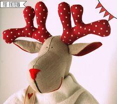Navidad renos patrón patrón de costura de PDF por lauracountrystyle