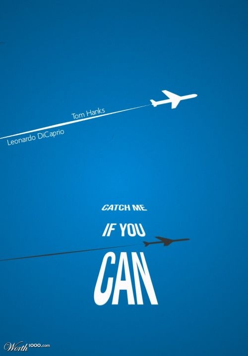 Catch Me If You Can Poster Design Graphic Design Movie Posters