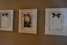 Thrifty Decorating: Cupboard Door Picture Holders
