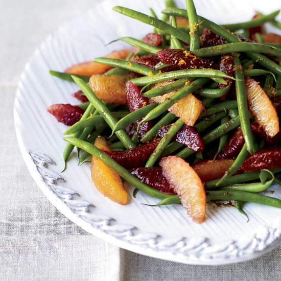 """Green Bean-and-Blood Orange Salad 