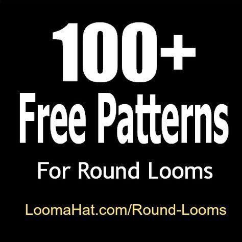 Round Loom 100 GRÁTIS Loom Knitting Patterns -Fácil. Ótimo para iniciantes e avanc ...