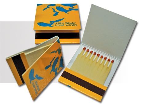 Carteritas Cerillas. Modelo Books 1x9. Precio 2.500 uds. impresas 1 color. $681.00 - 522,00 Euros