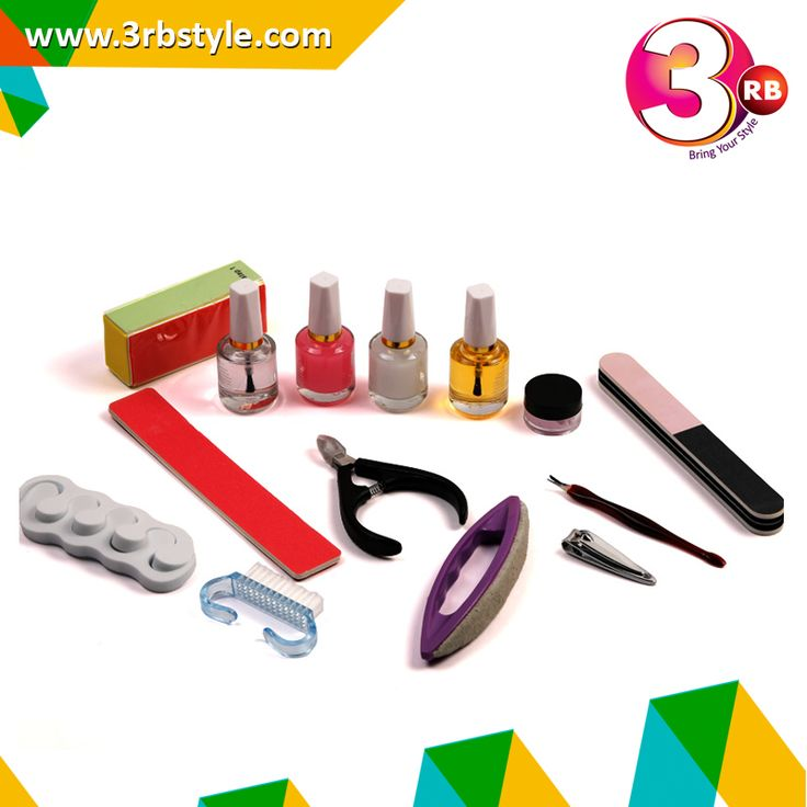 Regular manicure and pedicure enhance the health of our nails along with promoting their faster growth and maintaining well nourished and moisturized cuticles.  .1 X Buffer Block (Random Color) .1 X Base Coat 2 X Top Coat .1 X Oil Coat .1 X Cuticle Nippers .1 X Nail Brush .1 X Nail Cutter .1 X Toe Separators (Random Color) 1 X Nail Filer ..1 X Dead Skin Fork .1 X Nail Buffer Brush .1 X Buffing Cream 1 X Sanding File
