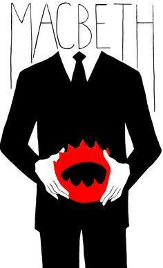 Wat je ziet in deze affiche is een man in een pak met een rode kroon in zijn handen. Wat het betekent is je ziet Macbeth met een kroon in zijn hand. De kleur van die kroon (rood) is er omdat Macbeth de eerste koning had vermoord. De sfeer tussen de affiche en het toneelstuk klopt, wat in de affiche zijn der niet veel vrolijke kleuren en je ziet rood en het toneelstuk is ook niet vrolijk en er worden veel mensen vermoord. Wat er afgesneden is, is zijn hoofd je ziet alleen het lichaam zonder…