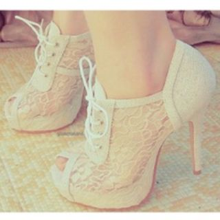 Lace shoes <3 It is just an image but I found them in ''Where to get it''... but I couldnt find a link to buy them...lots of them were sold http://wheretoget.it/look/244461#garment-1 and in http://wheretoget.it/tag/white+lace+heels/6847it has similar to them...