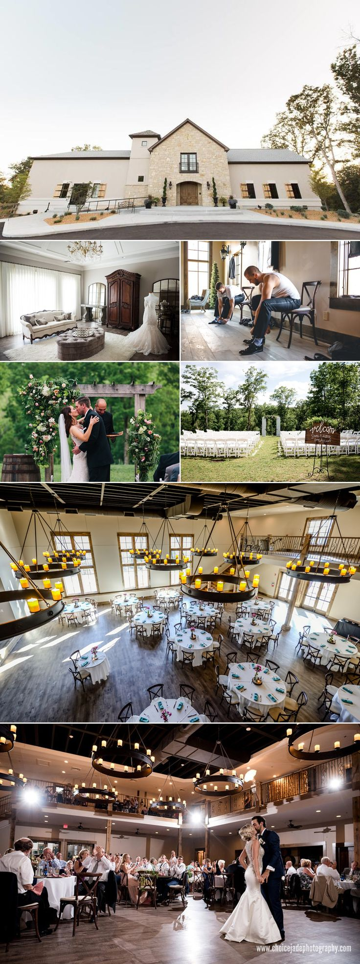 amazing new wedding venue in st louis: silver oaks chateau wedding