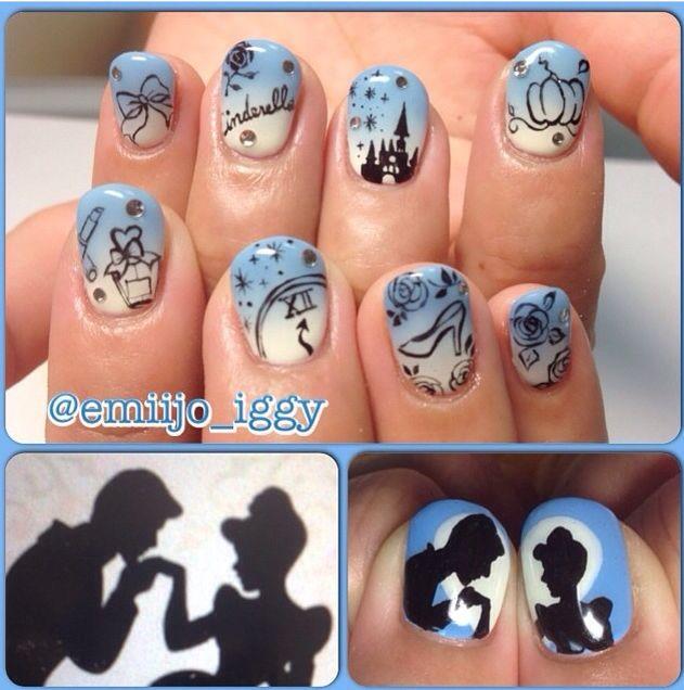 Cinderella Silhouette Nails
