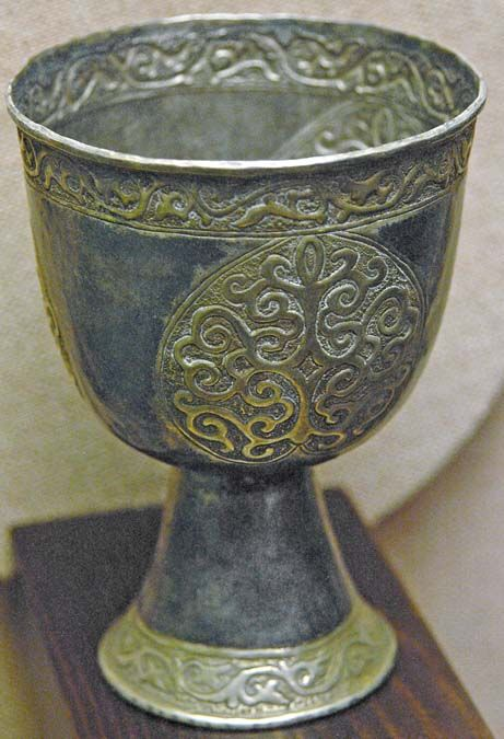 """""""Stem cup. Silver, gilding. Golden Horde."""" State Historical Museum, Moscow :: Turkic Peoples of the Steppe                                                                                                                                                                                 もっと見る"""