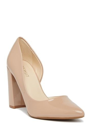 18a227407b1 Image of Nine West Anisa d Orsay Block Heel Pump - Wide Width Available