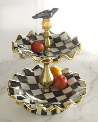 Courtly+Check+2-Tier+Stand+by+MacKenzie-Childs+at+Neiman+Marcus.