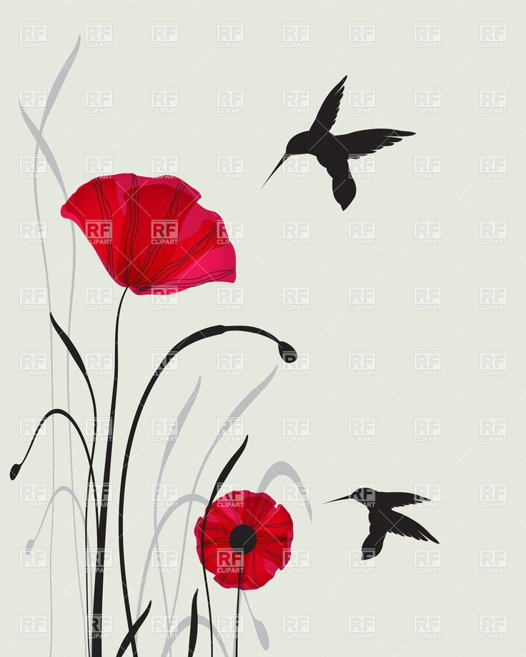 two-hummingbird-silhouettes-and-red-hand-drawn-poppies-Download-Royalty-free-Vector-File-EPS-48336.jpg 960×1,200 pixels