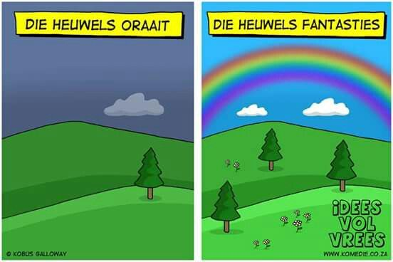 Die heuwels fantasties  #jokes #snaaks #grappe #afrikaans #fantasties #lol #IVV #Idees_vol_vrees