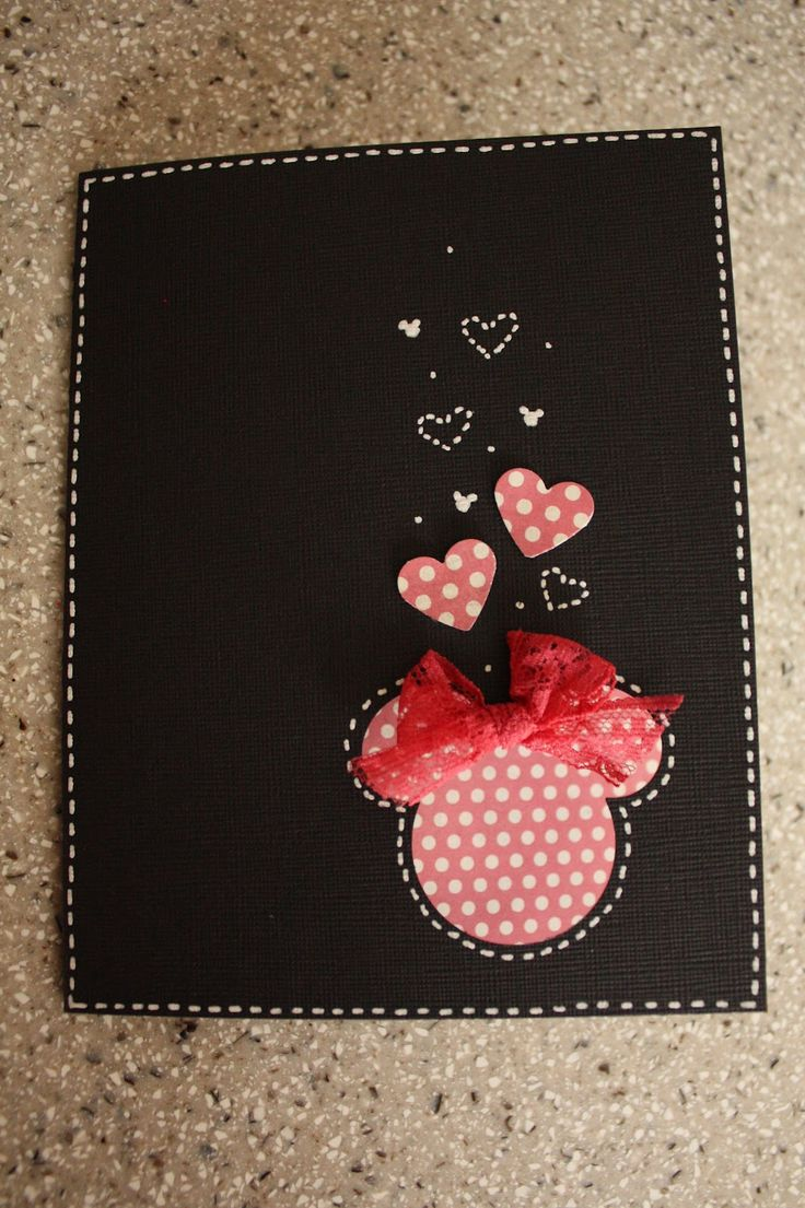 Minnie Mouse card - Use this on Disney scrapbook page