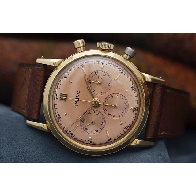 REPOST!!!  The personal wristwatch of Sir Winston Churchill, Lemania Chronograph in 18ct yellow gold. The Lemania brand have, relatively speaking, gone somewhat under the radar, but have been a major contributor to the watch industry since establishing during 1884. The company was originally named after the founder Alfred Lugrin as Lugrin S.A., who earned his stripes working within the factory walls of Jaeger LeCoultre. During this time, Lugrin would receive top awards within the firm as…