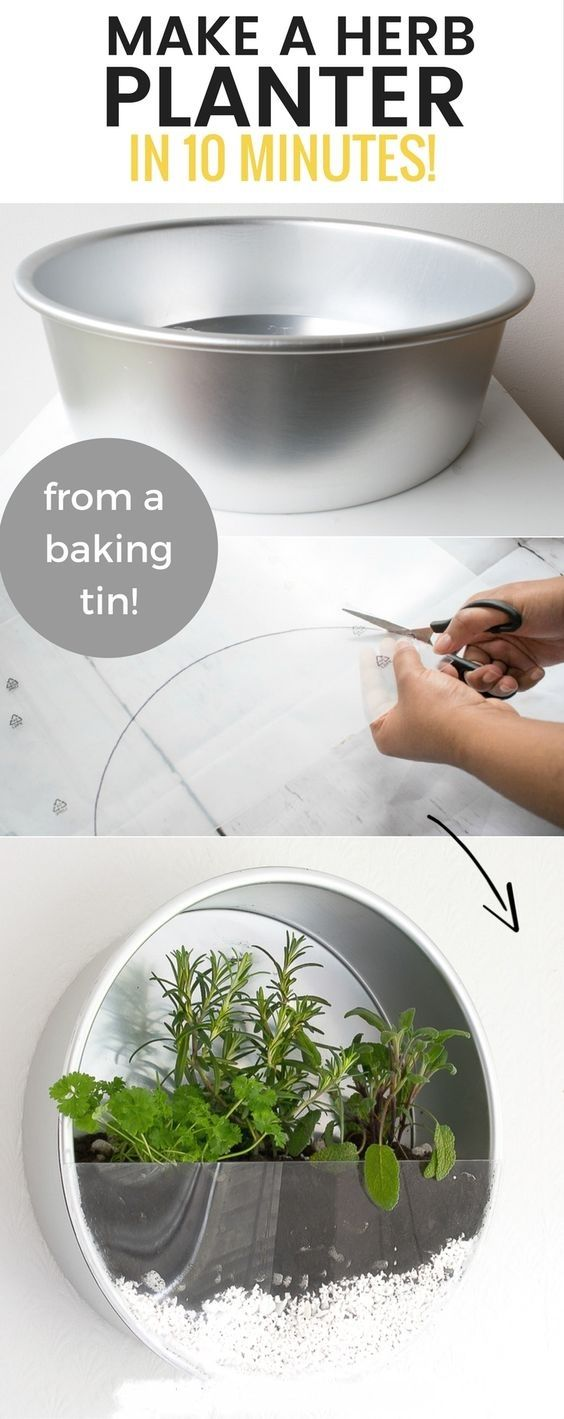 Make A Herb Planter From Baking Tin