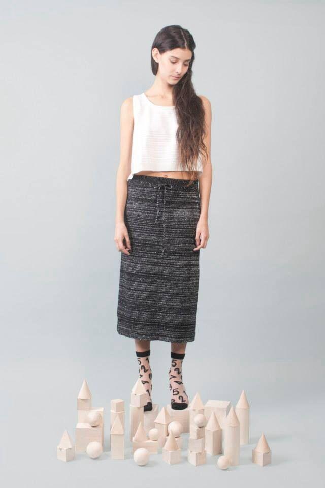 Read between the lines (white) crop top. Read between the lines (black) skirt.